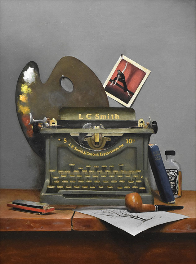 "Sean Witucki ""The Arts"" 24x18 oil/linen on aluminum $2,750."