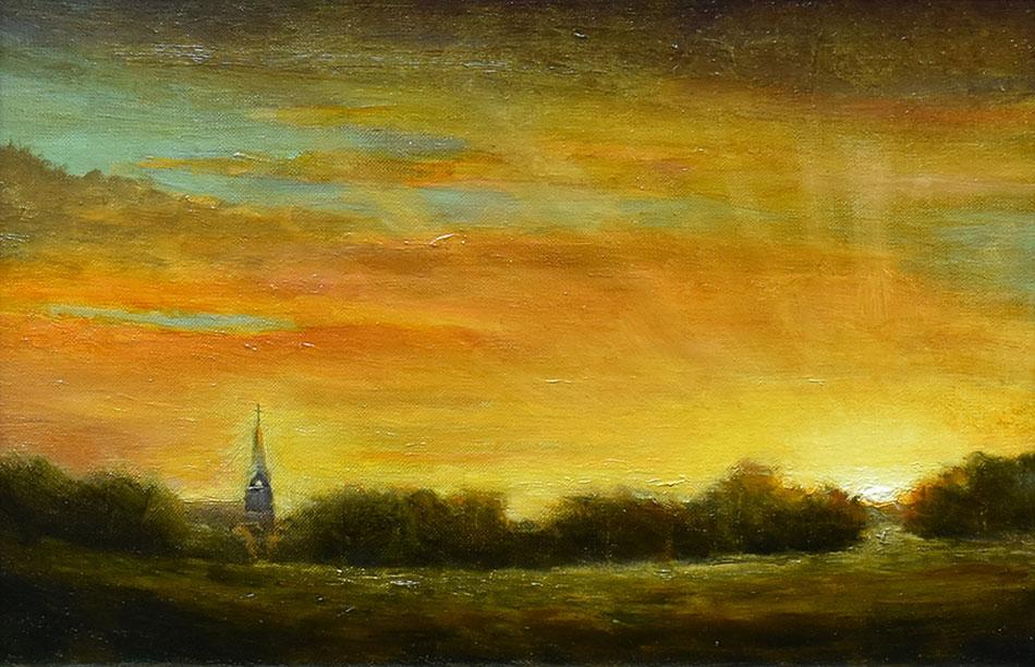 "Sean Witucki ""The Path"" 6x9 oil/linen $650."