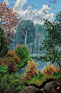 """Wynn Yarrow """"The Far Shore"""" Gouache Painting"""
