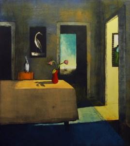 "Treacy Ziegler ""Light from the Corridor"" 38x34 monoprint $1,900."