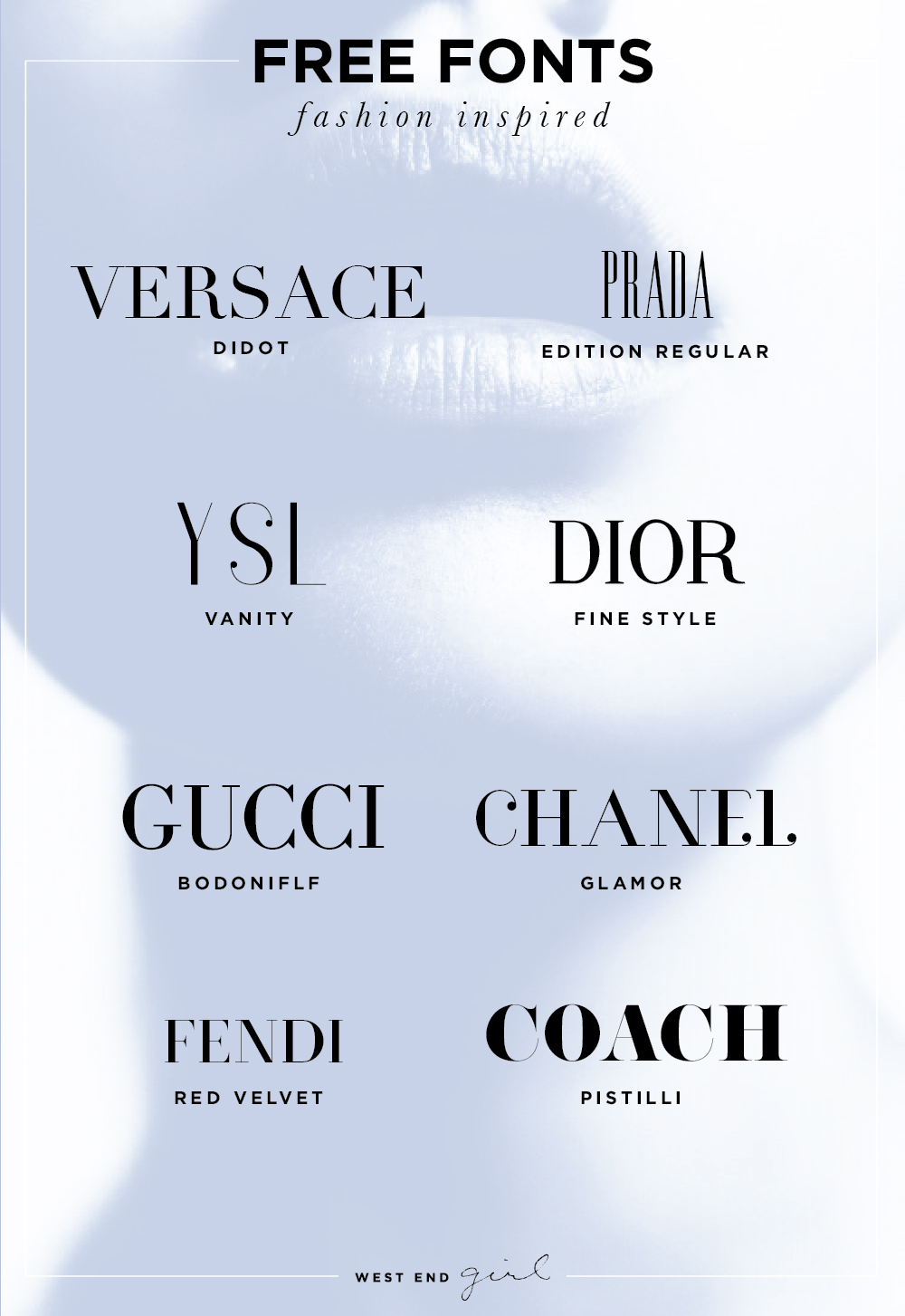 Fashion Brands Fonts Free Download