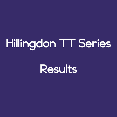 Hillingdon TT Series – Results – 10/8/2016