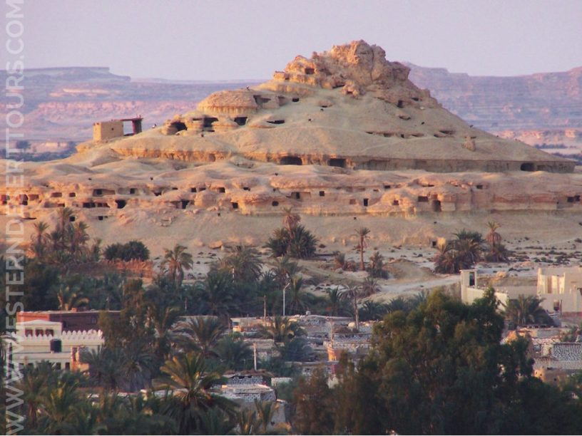 Gebel al-Mawta (the Mountain of the Dead) in Siwa Oasis