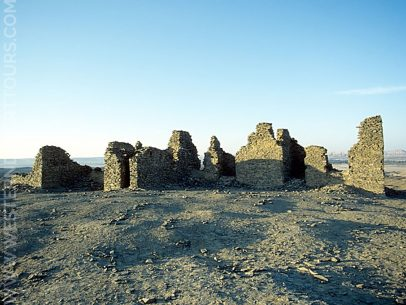 Remains of the British lookout post atop English Mountain (Gebel al-Ingleez)
