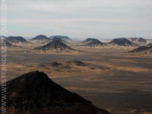 The Black Desert near Bahariya Oasis
