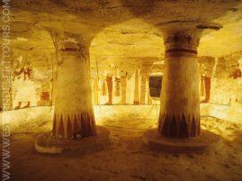 The decorated burial chamber of Zed-Amun-ef-ankh in Qarat Qasr Salim
