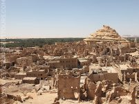 The remains of the Shali fortress in Siwa Oasis