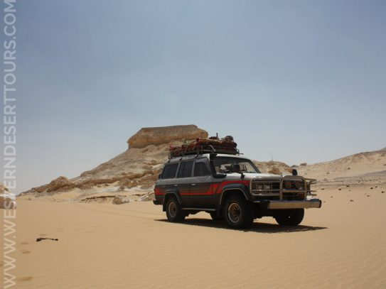 Toyota Land Cruiser in the Western Desert of Egypt