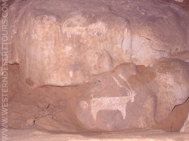 Wall paintings from the Djara Cave