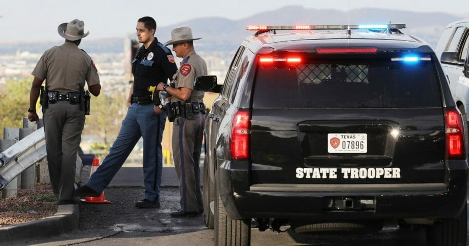 Police keep watch on Aug. 4, 2019, in El Paso, Texas.