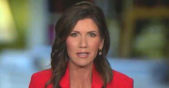 "South Dakota Gov. Kristi Noem appears on Fox News' ""The Ingraham Angle."""