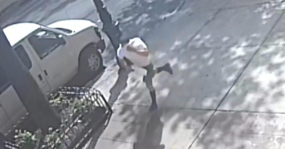 Stabbing suspect fleeing the scene