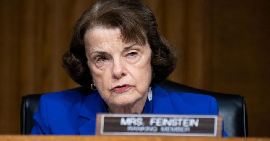 Sen. Dianne Feinstein (D-CA) makes an opening statement during a Senate Judiciary Committee hearing examining risks of Covid-19 in jails at the Dirksen Building of the U.S. Capitol June 2, 2020