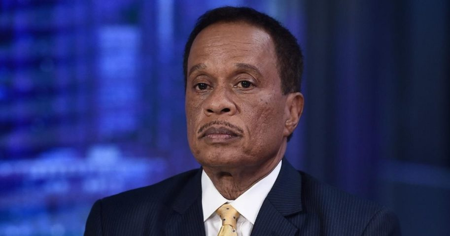 """Fox News contributor Juan Williams visits """"The Story with Martha MacCallum"""" in the Fox News Channel Studios on Sept. 17, 2019, in New York City."""