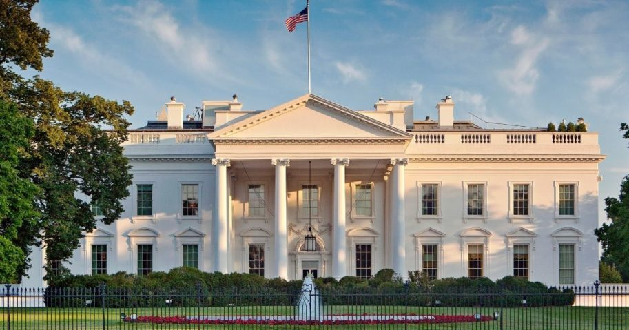 The White House can be seen in the above stock photo.
