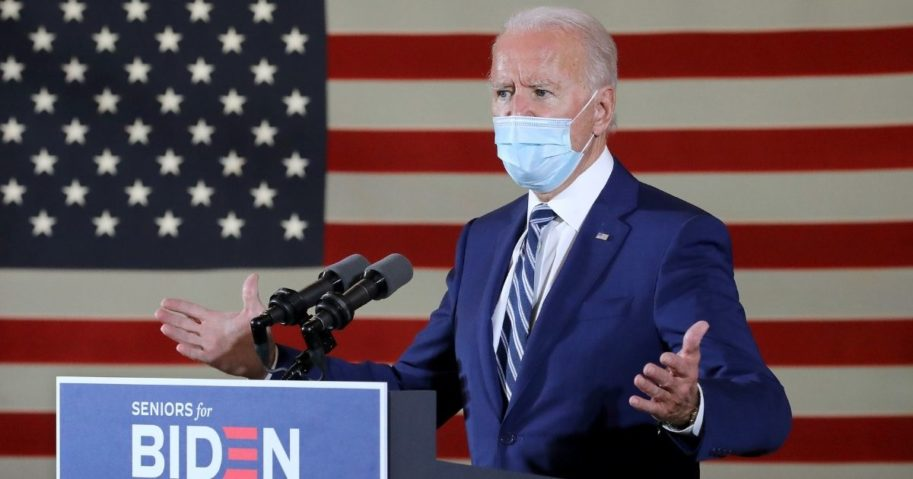 Democratic presidential nominee Joe Biden delivers remarks at Southwest Focal Point Community Center in Pembroke Pines, Florida, on Tuesday.