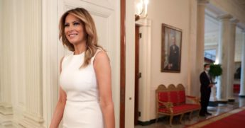First Lady Melania Trump, pictured in a September file photo at the White House.