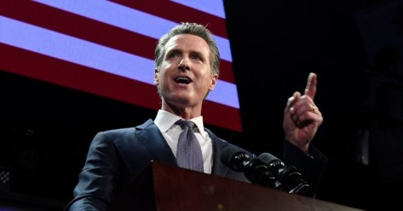 Gavin Newsom speaks on Nov. 6, 2018, in Los Angeles, California.