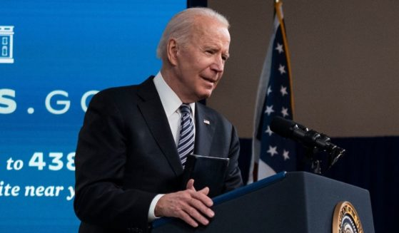 President Joe Biden delivers remarks about COVID vaccinations in the South Court Auditorium at the White House on Wednesday in Washington, D.C.