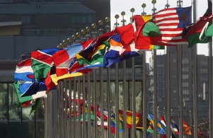 United Nations flags SC 300x195 Proposed UN Environmental Constitution Would Impose Global Governance