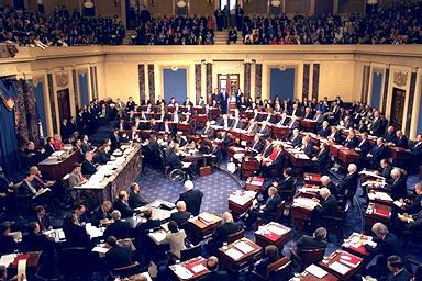 senate floor 46 of 99 U.S. Senators Vote To Give Your Constitutional Rights to UN