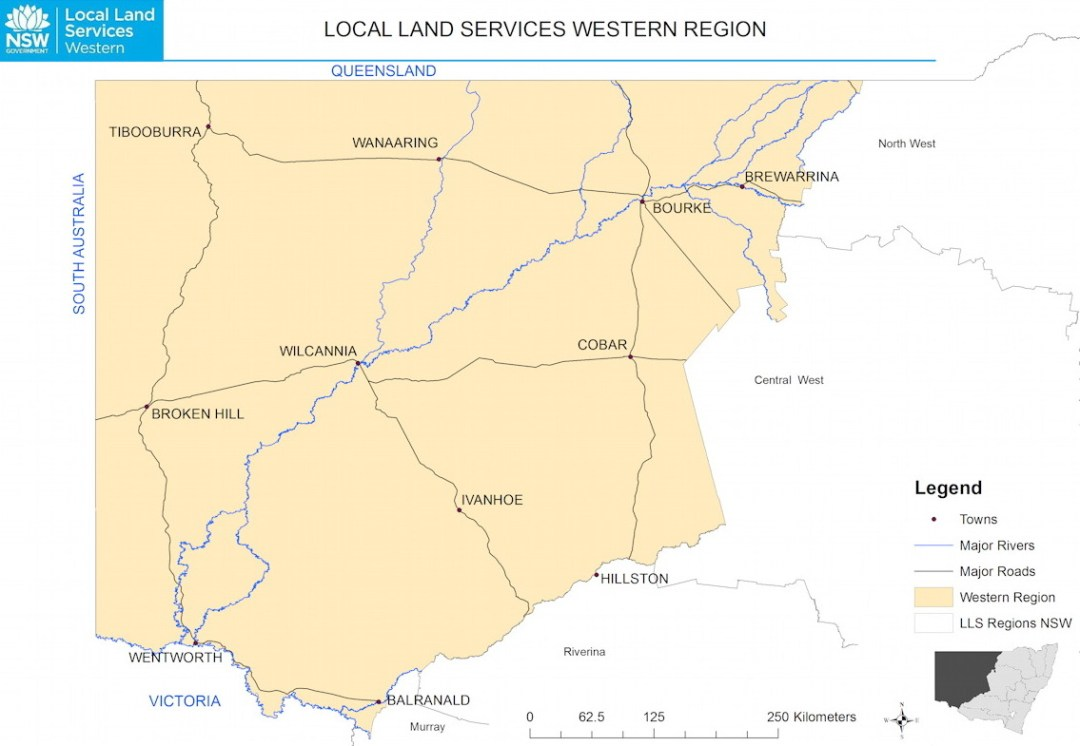 NSW Western region Map