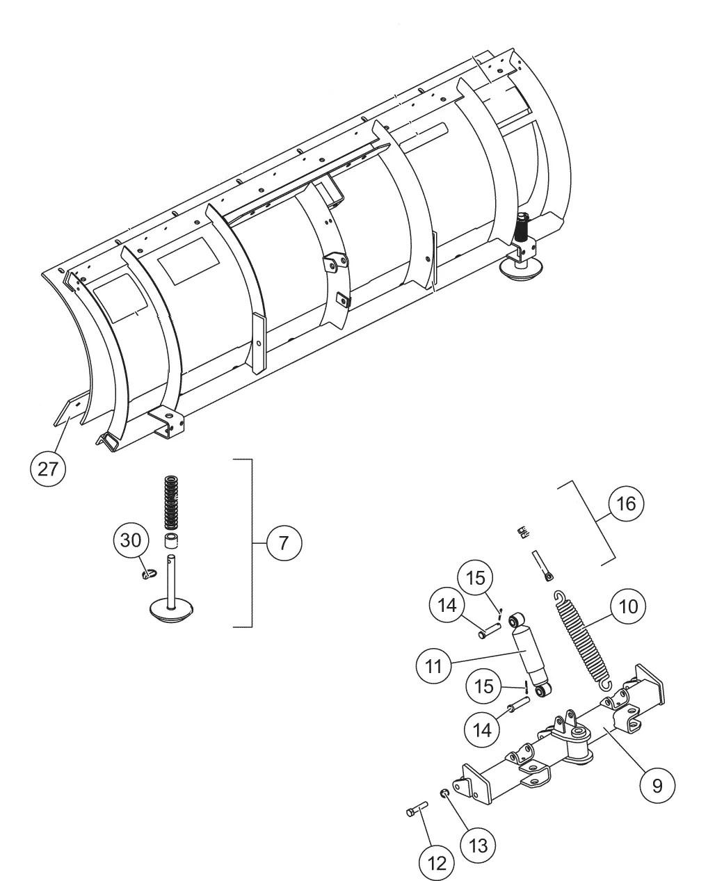 Pro Plow Series 2 Blade Quadrant Diagram