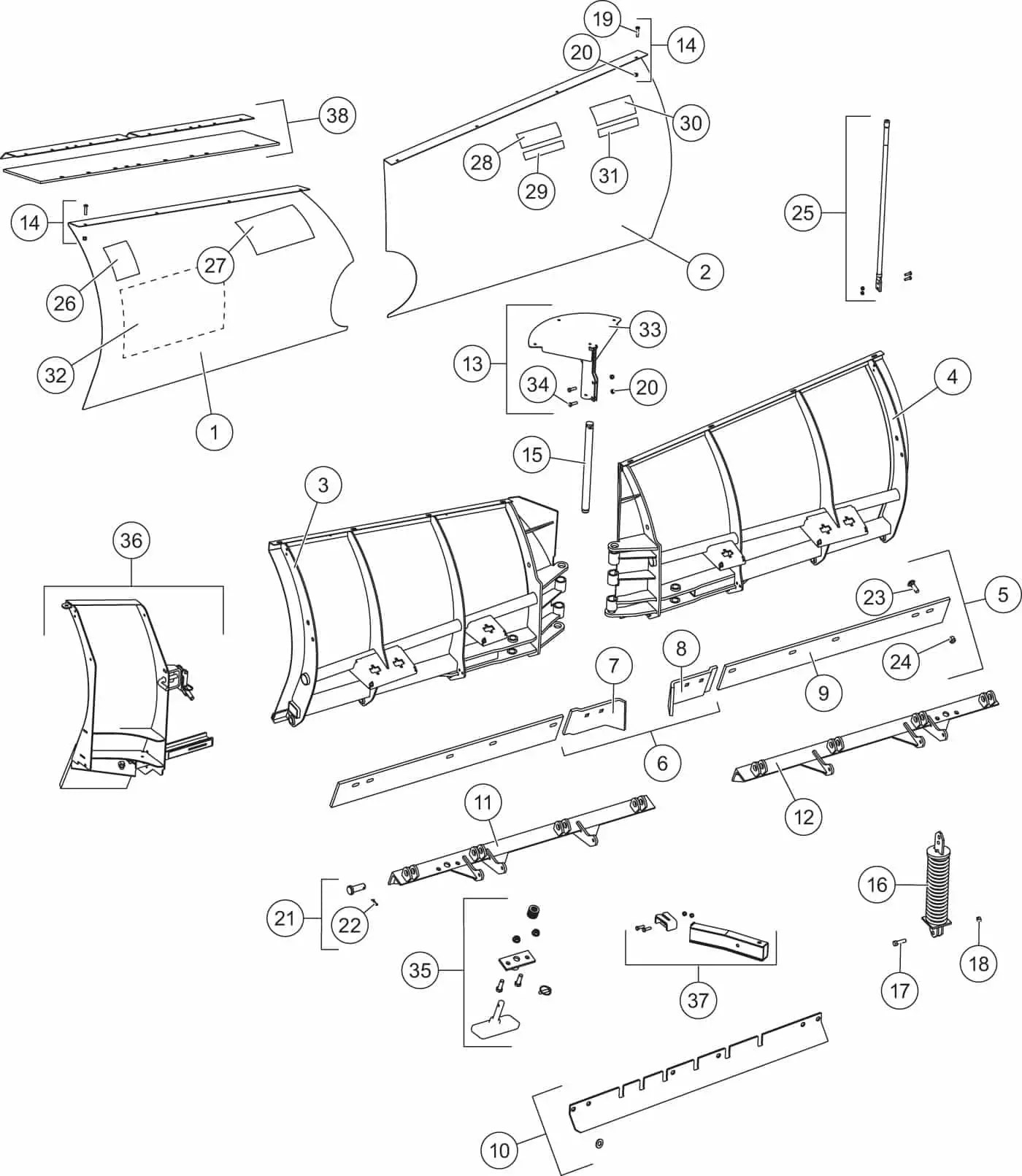 29 Western Snow Plow Parts Diagram