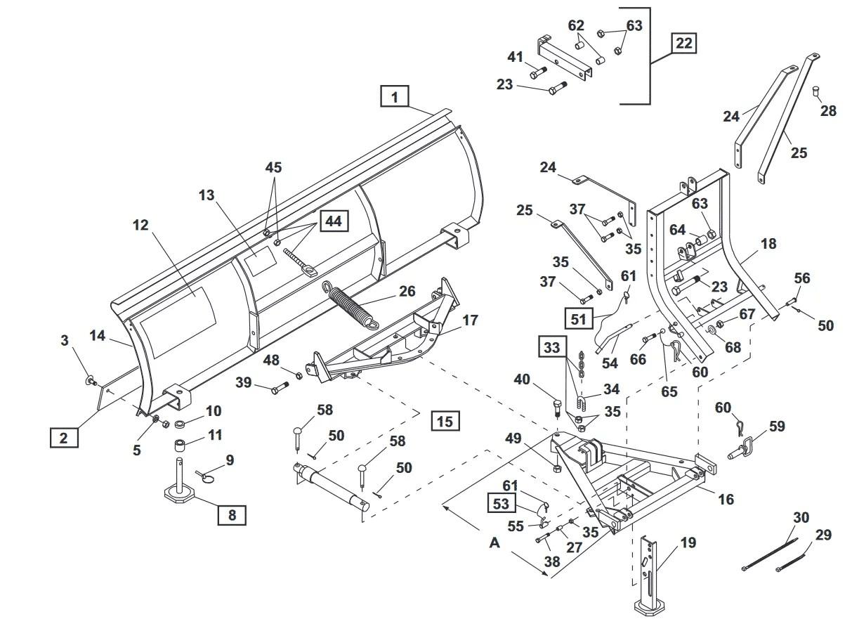 Unimount Standard Steel Blade Diagram
