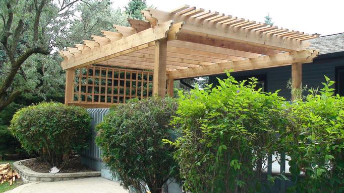 pergola designs over deck
