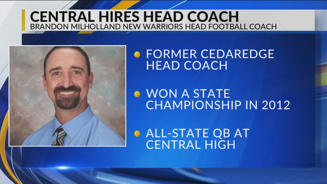 Milholland Returns to Central as Head Football Coach