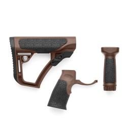 Daniel Defense Buttstock, Pistol Grip, & Vertical Foregrip Combo - Mil Spec+