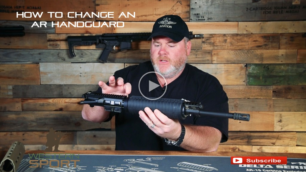 how to change and AR handguard youtube video   wester sport