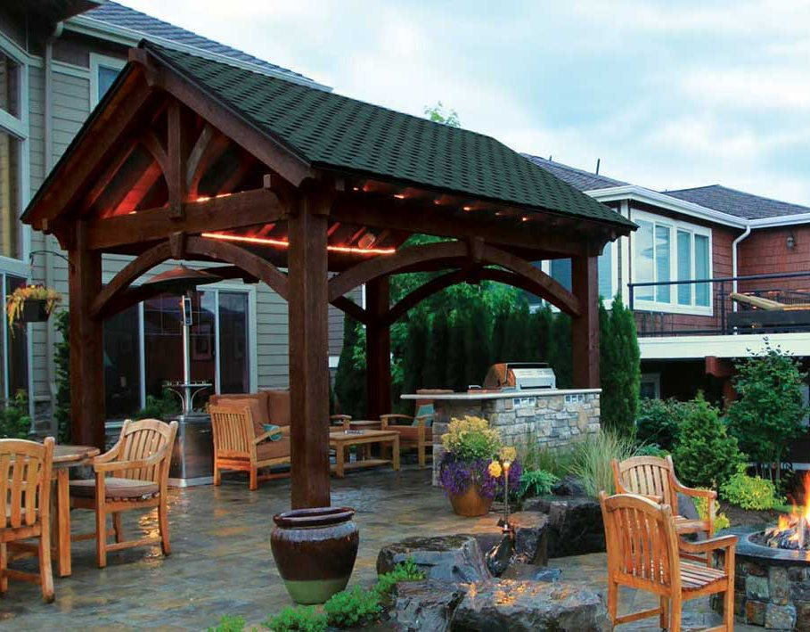 solid covered deck or patio