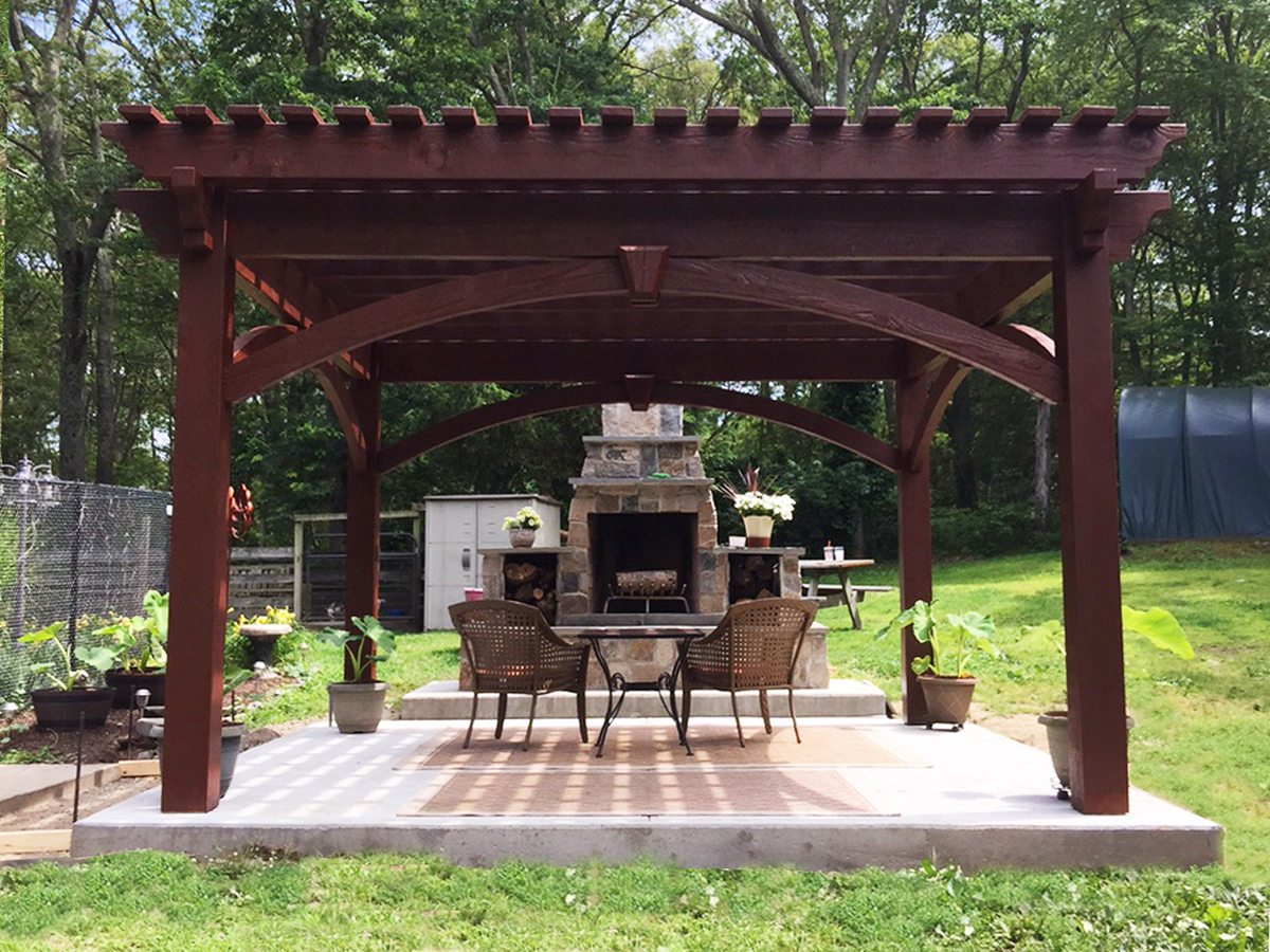 Before Amp After Diy Pergola Kit For Rhode Island Fireplace