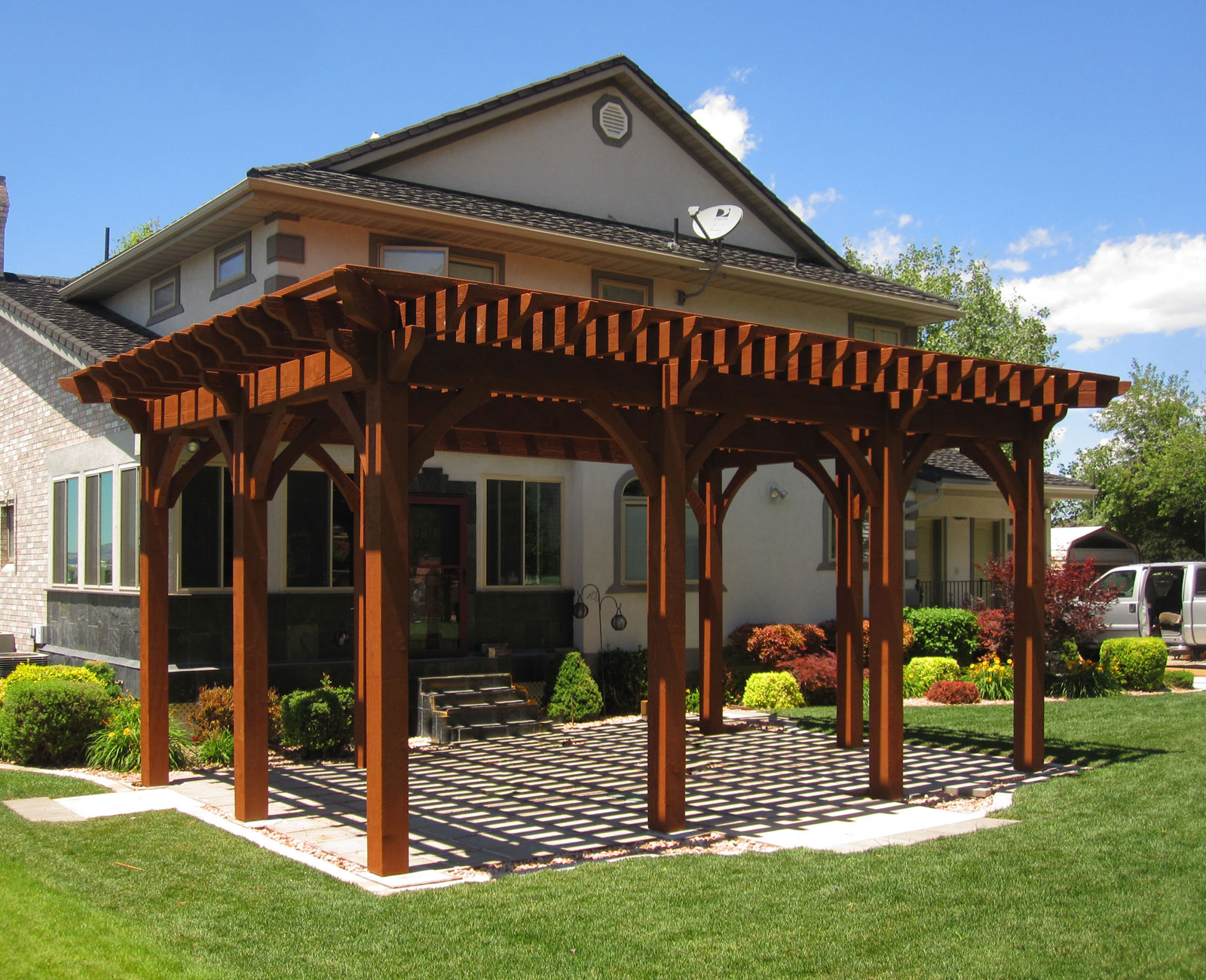 Rich Sequoia Premium Stain Color   Western Timber Frame on Sequoia Outdoor Living id=84278