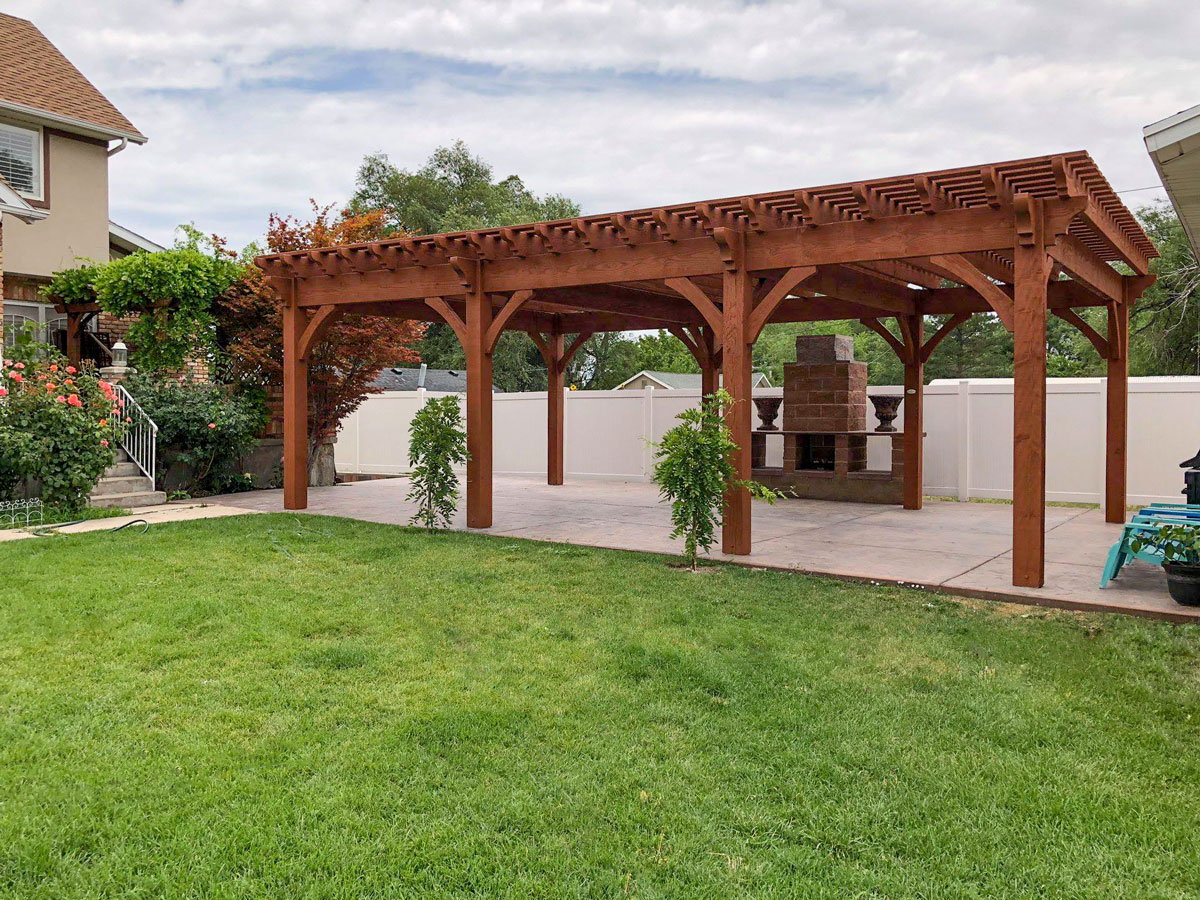 Rich Sequoia Premium Stain Color   Western Timber Frame on Sequoia Outdoor Living id=71991