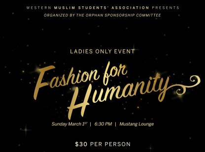 MSA Fashion for Humanity