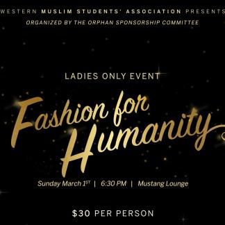 MSA Fashion for Humanity