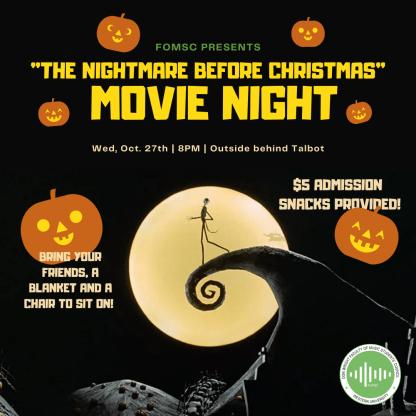 FoMSC Halloween Movie Night Poster