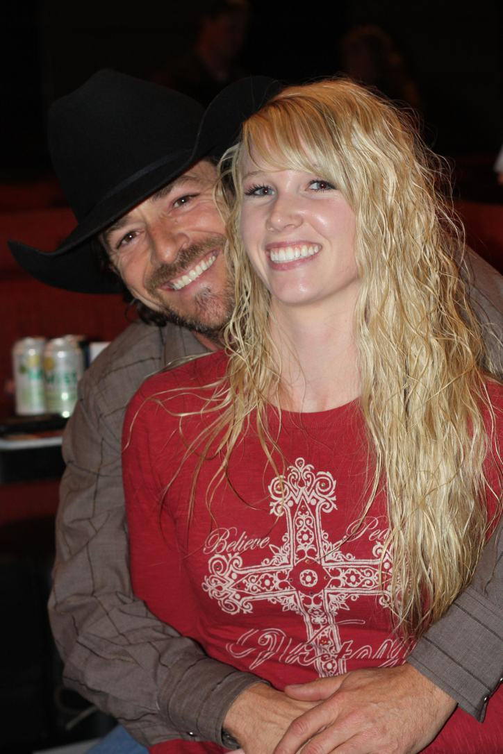 Amberlee with Luke Perry