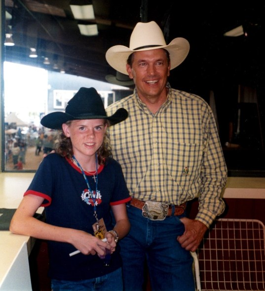 Jessica with George Strait