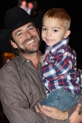 Kaleb with Luke Perry