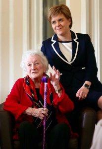 Winnie Ewing and Nicola Sturgeon