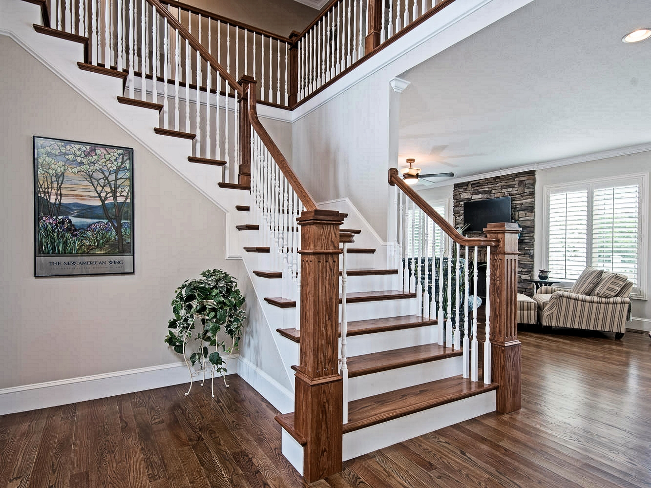 Box Newel Post Photo Gallery | Craftsman Style Newel Post | Design | Staircase | Railing | Square | Interior