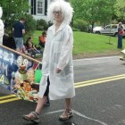 Members of J.V. Fletcher library staff dressed as  mad scientists to promote this summer's reading program, Fizz Bam Read.