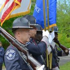 The Middlesex Sheriff Office Honor Guard.