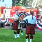 The Westford Firefighters Pipes and Drums were on hand.