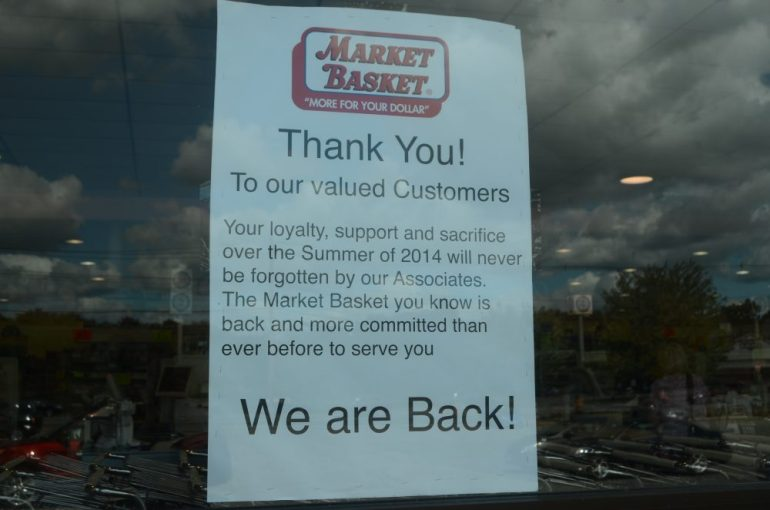 The signs are gone at Littleton Road's store, but new ones thanking customers are now in its place.