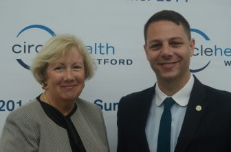 State Senator Eileen Donoghue and State Representative James Arciero were on hand for the ribbon cutting.
